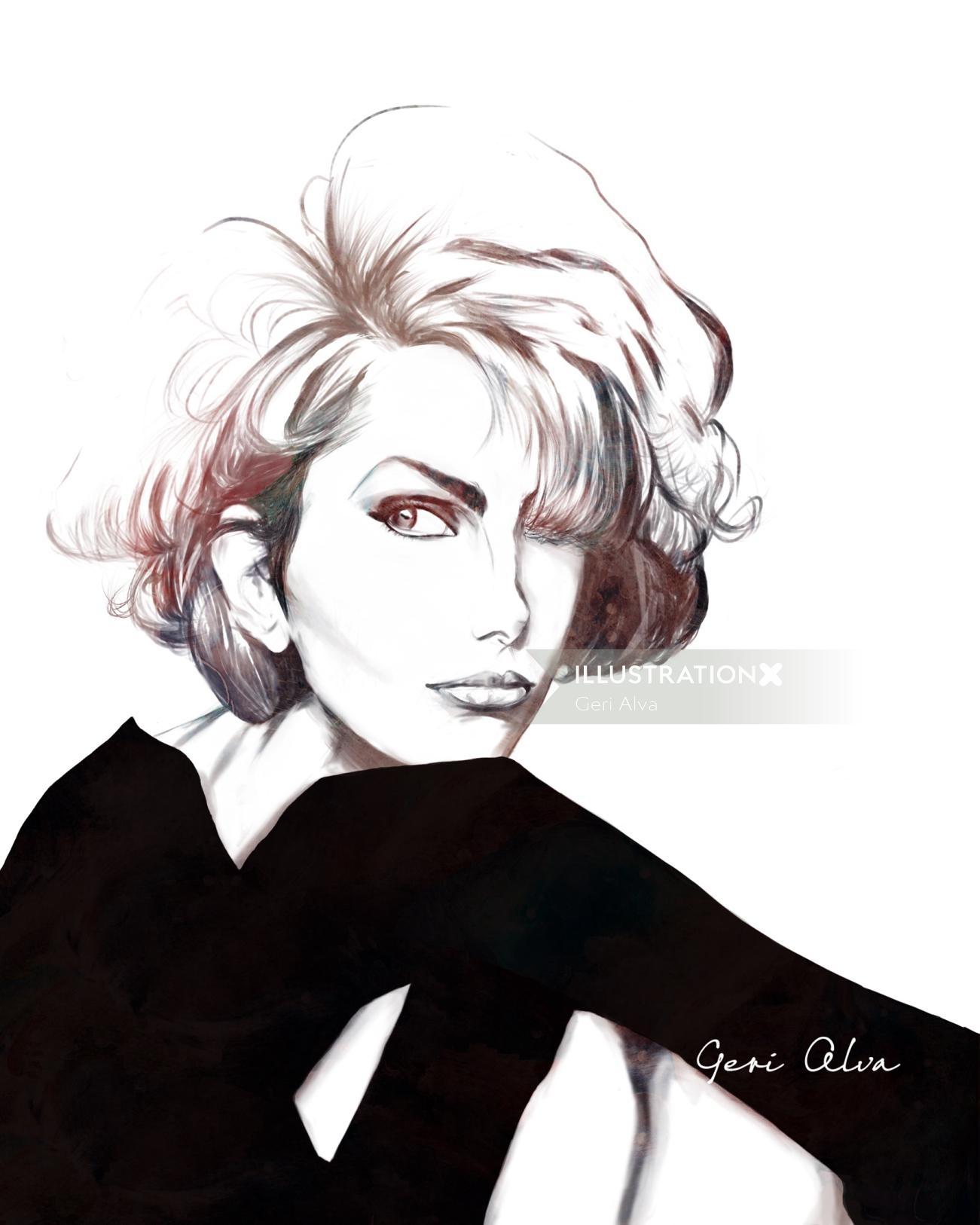 fashion, fashion illustrations, fashion editorial illustrations, editorial column illustration, beau