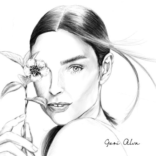 fashion, fashion illustrations, beauty, woman with plant illustrations, woman with flower illustrati