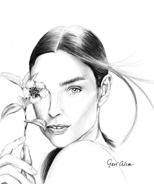 Fashion illustration for Garnier