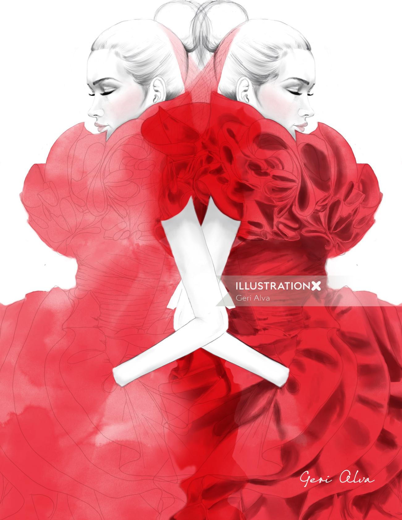 fashion, fashion illustrations, fashion editorial illustrations, editorial photography illustration,