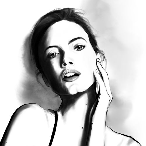 Editorial illustration of women pose for Vogue