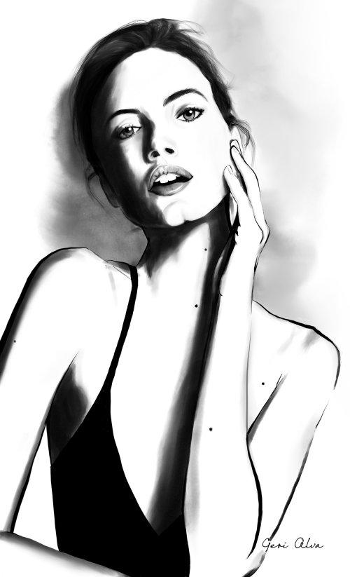 moda, ilustrações de moda, ilustrações editoriais de moda, ilustração de coluna editorial, namorado
