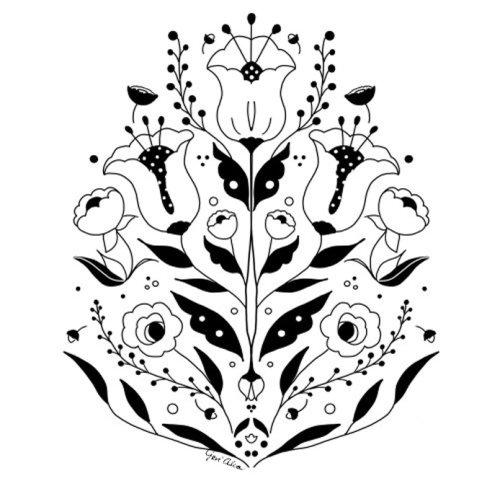 Botanical illustration of Flower Emblem