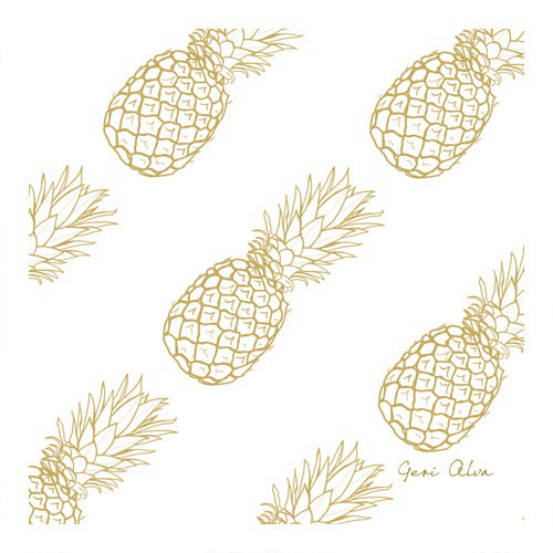 fashion, beauty, nature illustrations, flower illustrations, plant illustrations, golden pineapples,