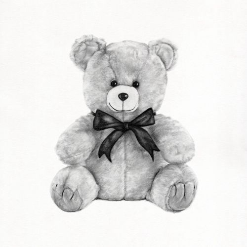mr teddy bear, teddy bear greeting cards, graphite pencil teddy bear, graphite teddy bear, pencil te
