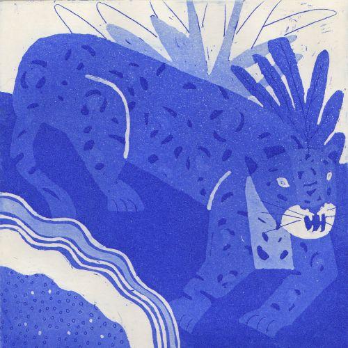 Decorative art of cheetah