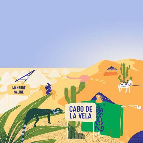 Graphic design of cabo de la vela village