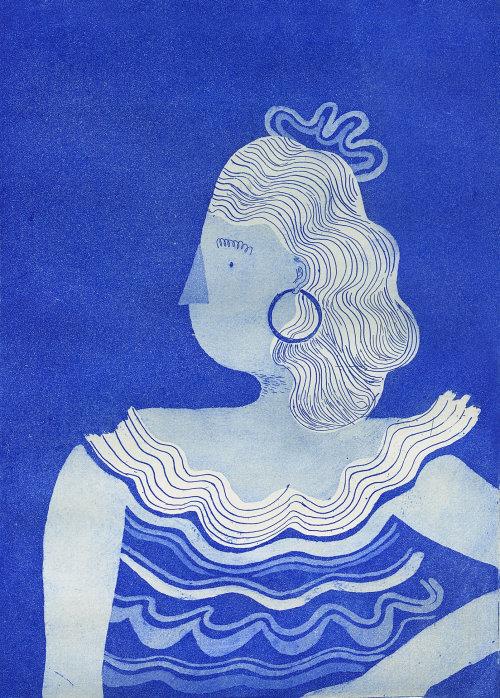 Graphic portrait illustration of women