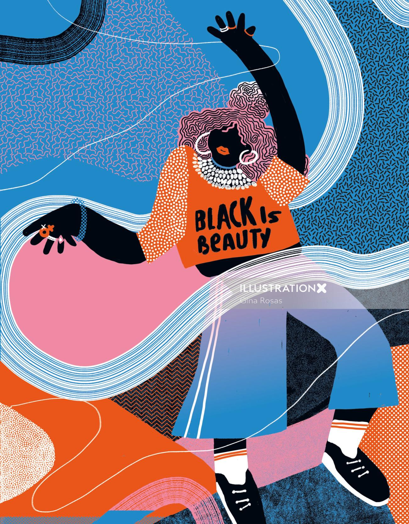 Conceptual illustration of black is beauty