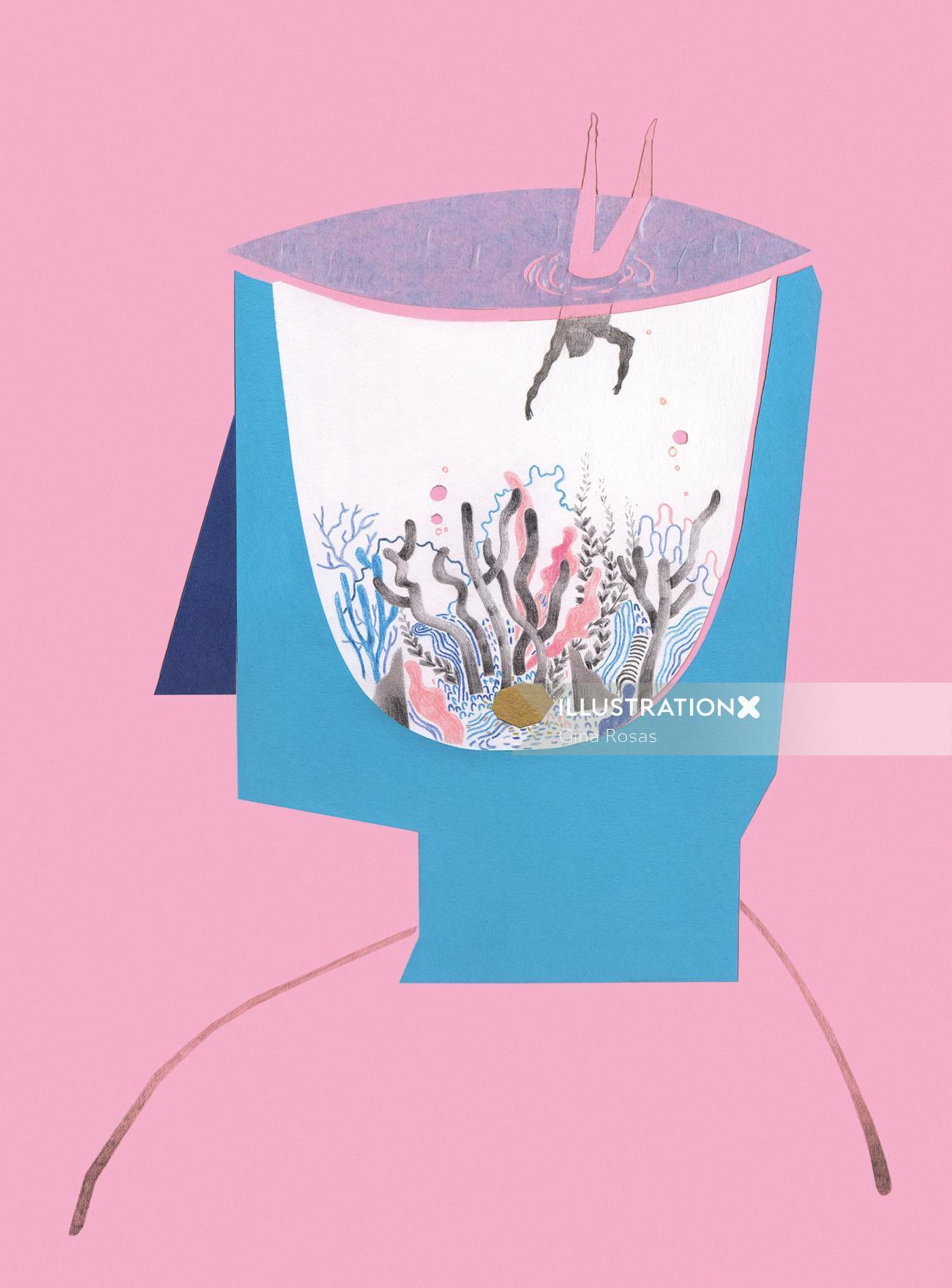 Abstract illustration by Gina Rosas