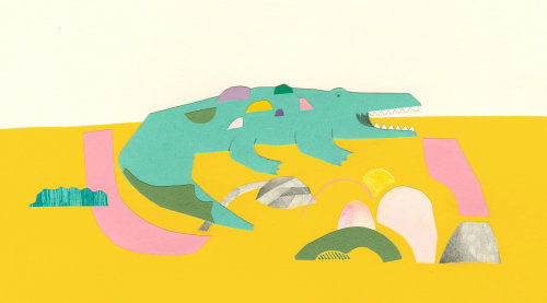 Art de papier de crocodile