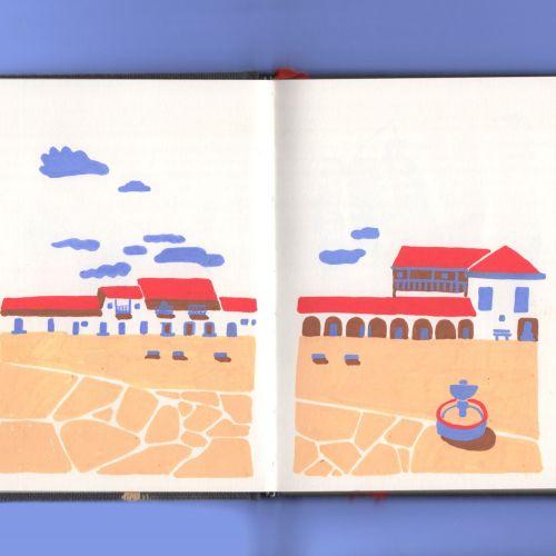 Book page design of Villa de Leyva