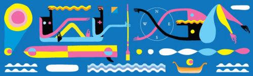 冲浪妇女壁画