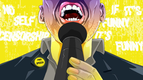 Man speech illustration