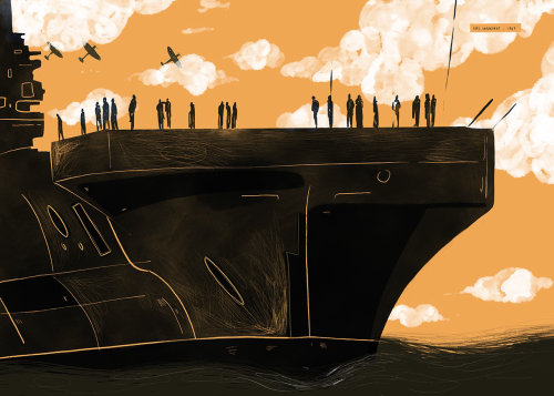 Digital painting of boat