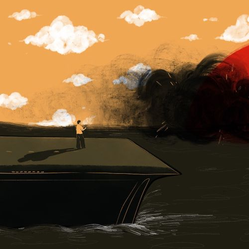 Sunset digital painting