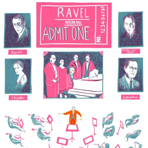Graphic design for Ravel on tour