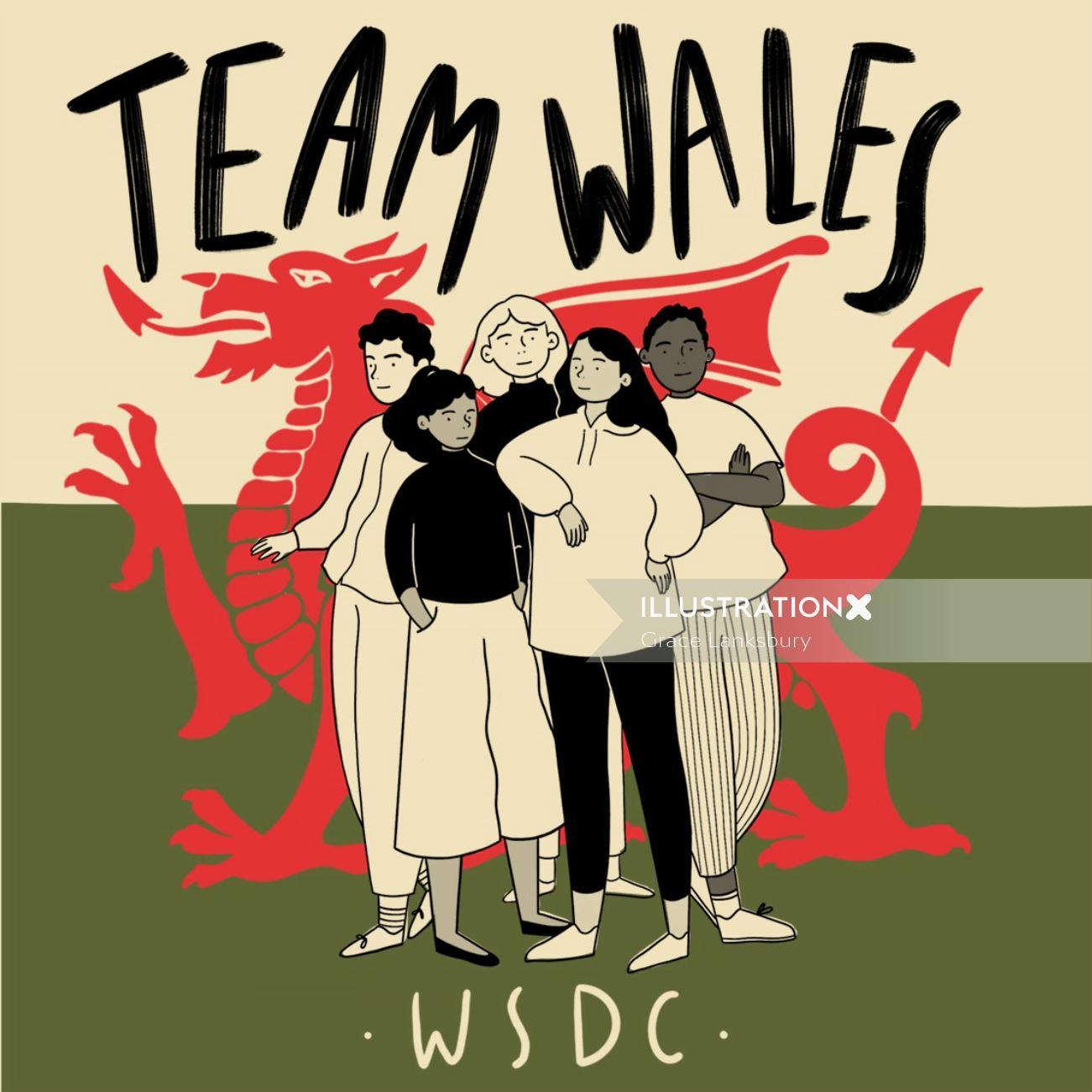 Team wales graphic design