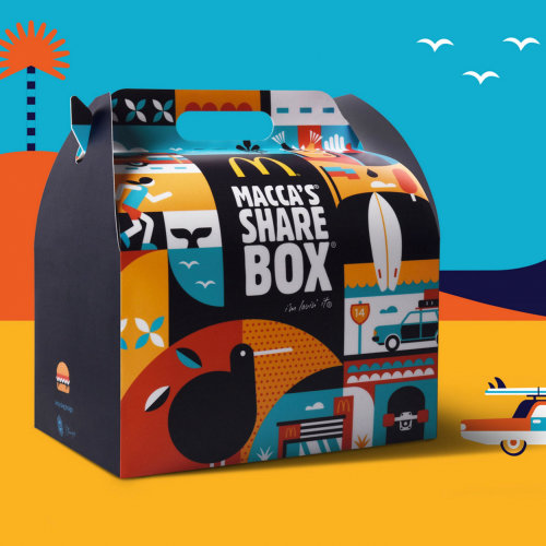 Conceptual illustration on box