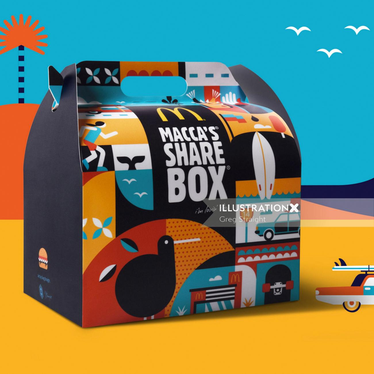 Conceptual illustration on box