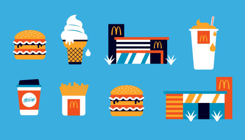 Illustration de la nourriture Mcdonald par Greg Straight