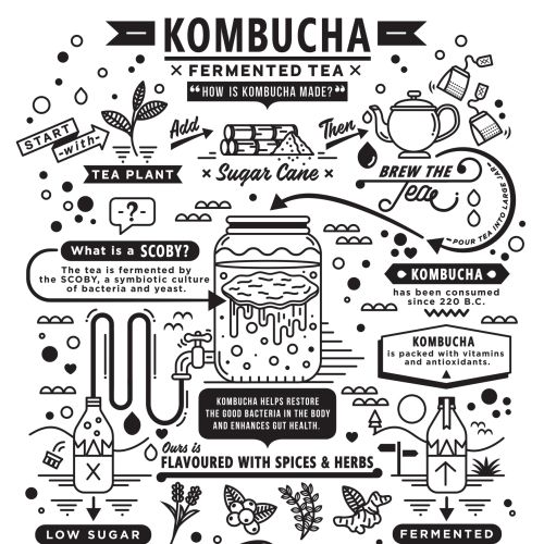 Kombucha tea cover illustration