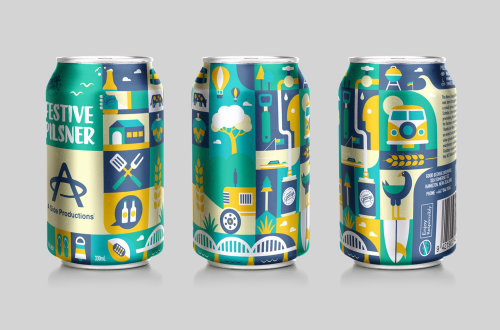 Illustration on cold drink can by Greg Straight