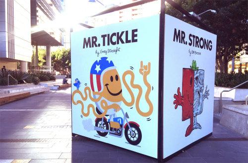Arte gráfica do Sr. Tickle na rua