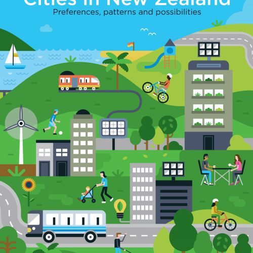 New Zealand city's street Graphic illustration