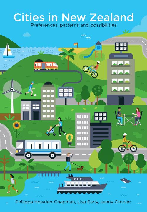 Rua da cidade da Nova Zelândia ilustração gráfica