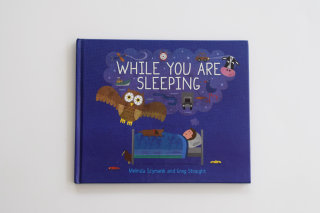 While you are sleeping book cover illustration