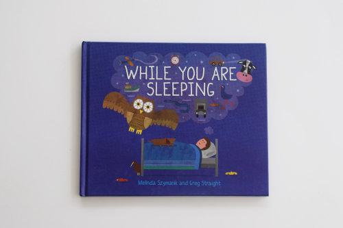 Enquanto você está dormindo, ilustração da capa do livro
