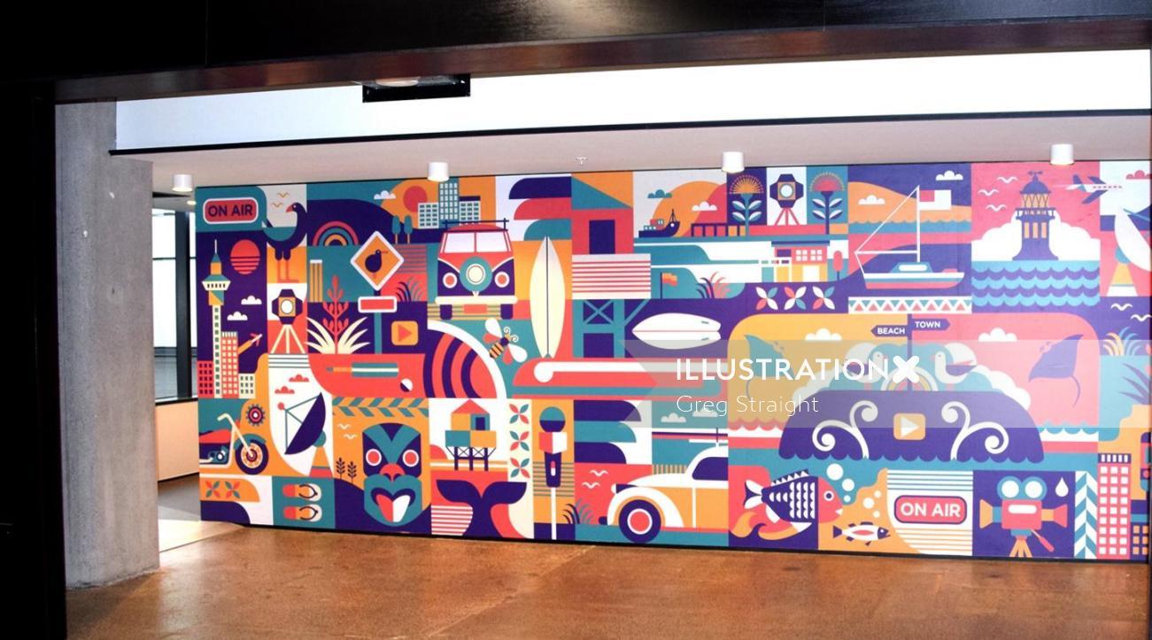 digital art on wall by Greg Straight