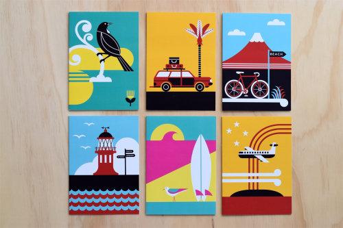 Arte digital do cartão de praia