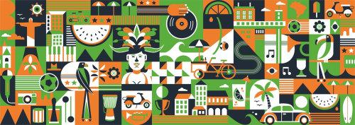 Resumo de obras de arte cidade e pessoas