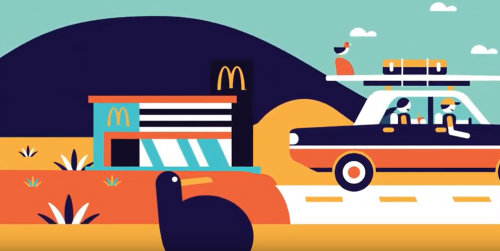 Animation Kiwiburger pour Mcdonald