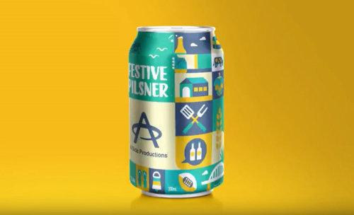 Rotação de lata de cerveja Animação