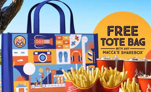 Anúncio da animação da sacola livre de Mcdonald