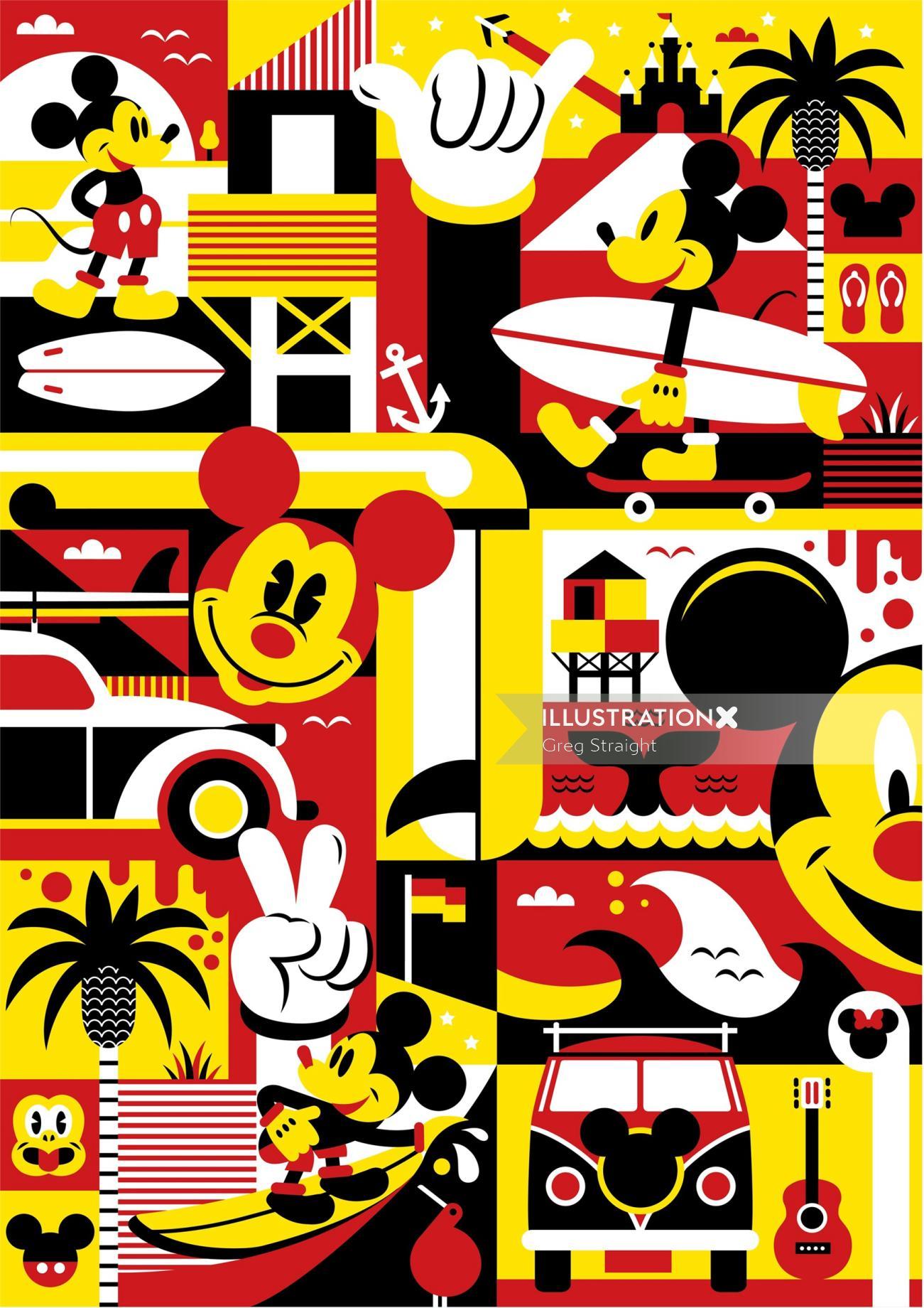 Mickey Mouse artwork for  Eddie Zammit