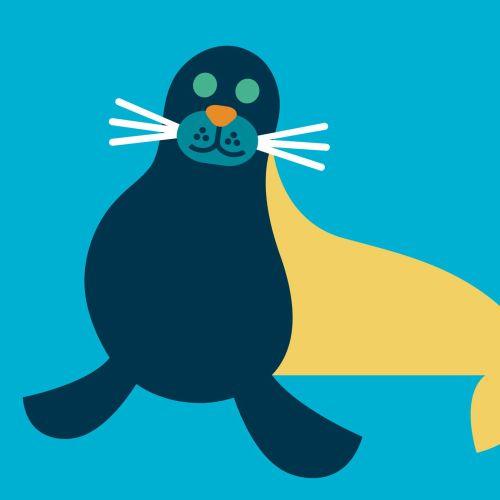 Animal Seal painting