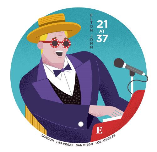 Portraiture of Elton John is an English singer