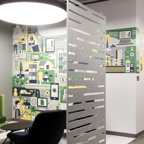 Office interiors wall mural art