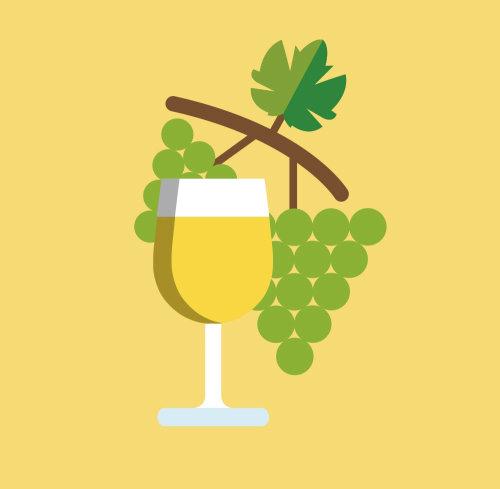 Grape juice vector art