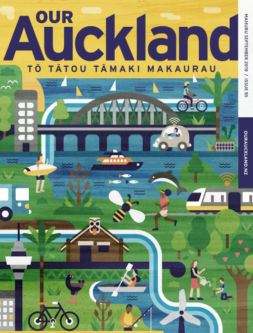 Our Auckland lettering illustration