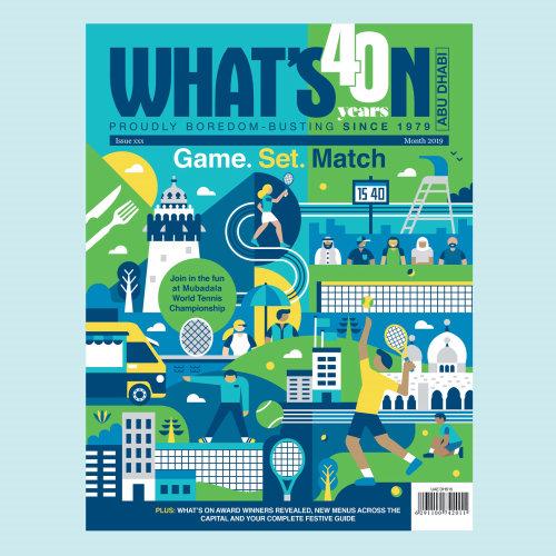 What's On Abu Dhabi magazine cover art