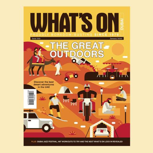 What's On Dubai magazine cover illustration