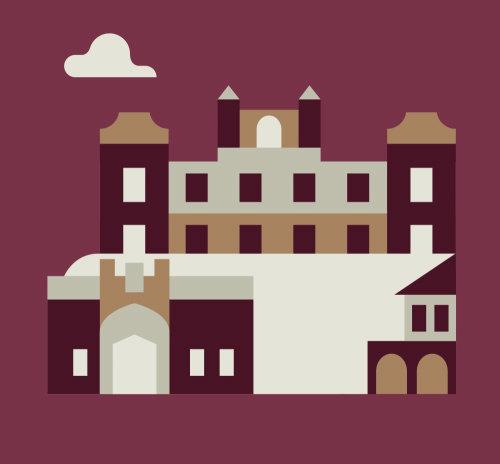 Medieval building vector art