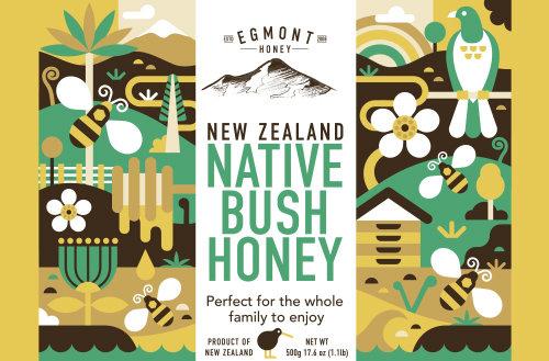 Advertising illustration of Native Bush Honey