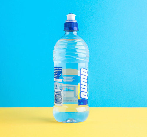 Gif animation of Pump Spring water bottles