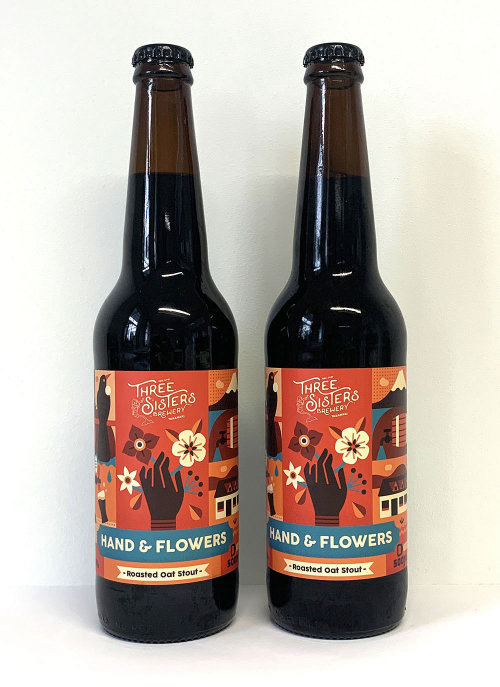 Packaging illustration of Three Sisters Brewery